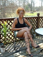 Hot ebony babes posing excited on livecam