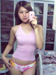 Picture set of lovely Oriental teens