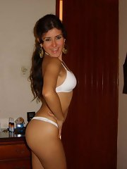 Sexy Latin babe showing off her hot naked body