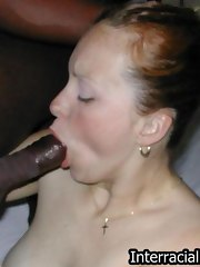Nasty honey gets her snatch stretched wide open with black cock