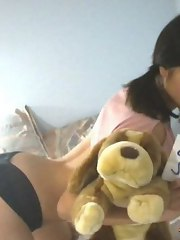 Nude oriental babe gets screwed bareback