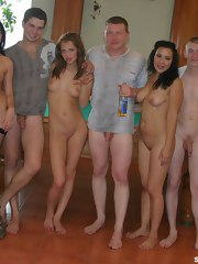 Home video with guys fucking on billiard-table