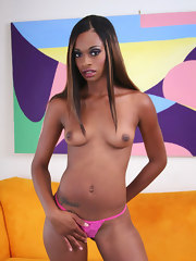 Teen ebony girls wearing sexy outfit posing to the camera