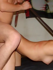 Latin chick plays a sex thrall for her partner