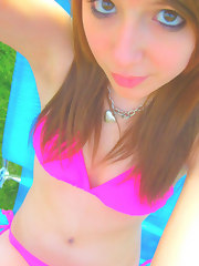 Delicious legal age teenager non-professional shows her hot body