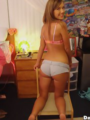 Watch this hawt sleek college babe kat get drilled hard in this hawt college dorm room fucking cumfaced party fucking pics