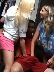 Watch these hot horny college sweethearts play foozball in their undies then receive fucked hard in these hot wild real dorm room party footage