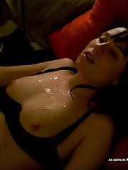 Cum-drenched wild horny chick