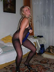 Horny self-shooting wives in kinky lingerie