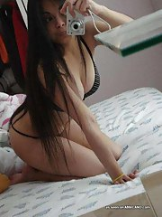 Sexy amateur Asian sweetheart camwhoring in her bedroom