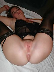 Pictures of a perverted MILF in her black stockings