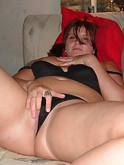 Gallery of an amateur lustful BBW spreading her legs