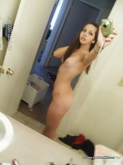 Perverted amateur girlfriends posing sexy in sexy selfpics