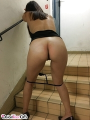Youthful Oriental slut showing her good culo