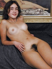 Beautiful amateurs with hairy love tunnel