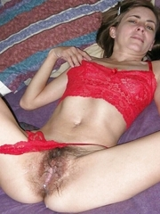 Charming amateurs with shaggy cum-hole