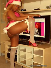 Hot phat ebony chicks posing sexually excited collection