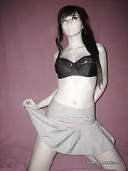 Smoking hot non-professional emo teen models lingerie