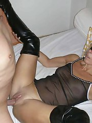 Nice collection of an non-professional hardcore MILF getting perverted