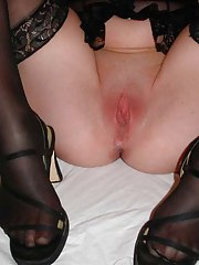 Precious pictures of a kinky MILF in her black stockings