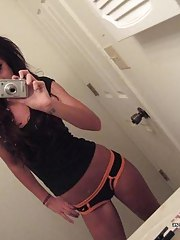 Steamy hot amateur perverted wild emo babe's sexy selfpics