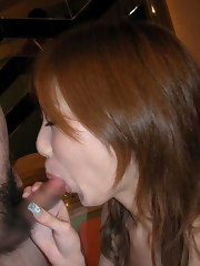 A picture collection of various sexually excited Oriental honeys sucking cock