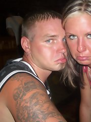 A sunburned British couple fucking and engulfing in bed